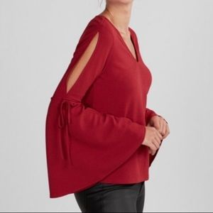Express Red Bell Sleeve Blouse